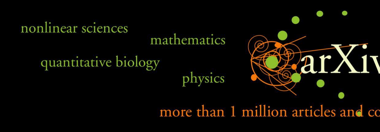 Миллион работ в arXiv.org